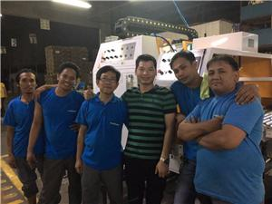 Phillippine, Malinta Corrugated Boxes Manufacturing Corporation - Installed 2 x JS1280-S in line with their Mitsubishi Flexo Folder Gluer.