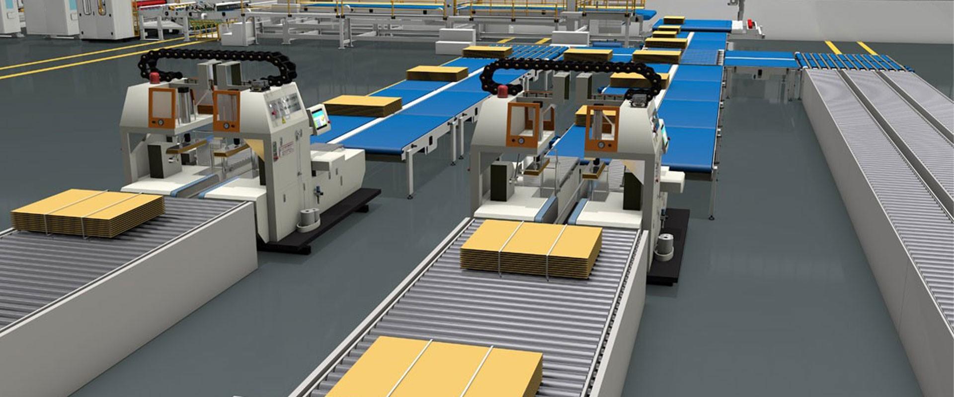 Dalam Line / Off Line Corrugated Board Bundling Machine