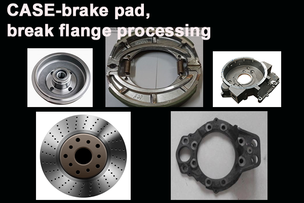 Brake pad, brake shoes, suspension brackets,  car beams, and other support materials are mainly ductile iron and cast steel. The processing of this kind of parts is mainly milling, drilling, and tapping, which requires the machine to have a high speed and torque, but also have 3-axis of rapid movement to improve the processing speed.