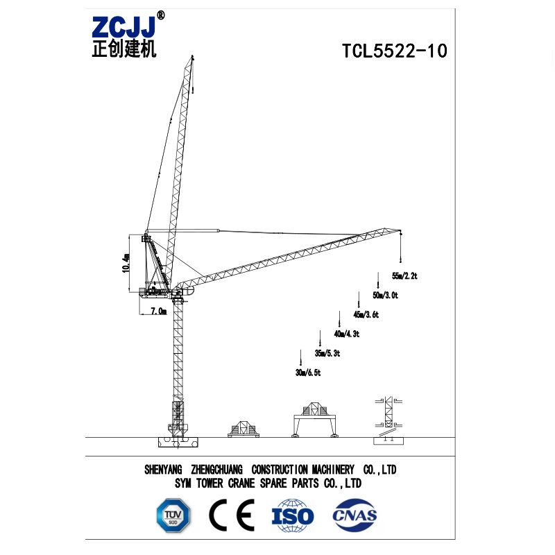 Luffing jib tower crane