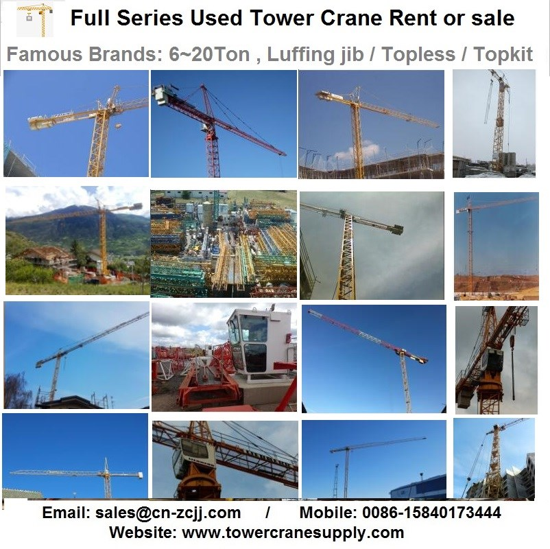 Sewa Menara MC85 Tower Crane Sewa Sewa