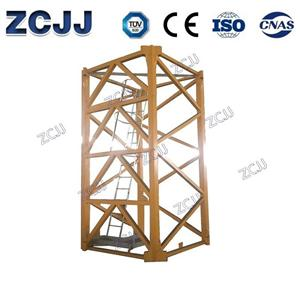 256HC Mast Section Difference between independent installation and attached installation of tower crane