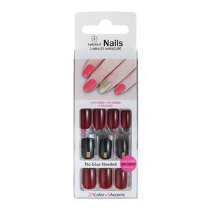 Druk op Square Design Nails Amazing Red S934