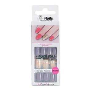 Drücken Sie auf Glitter Square Nails Designs Charming Grey S924