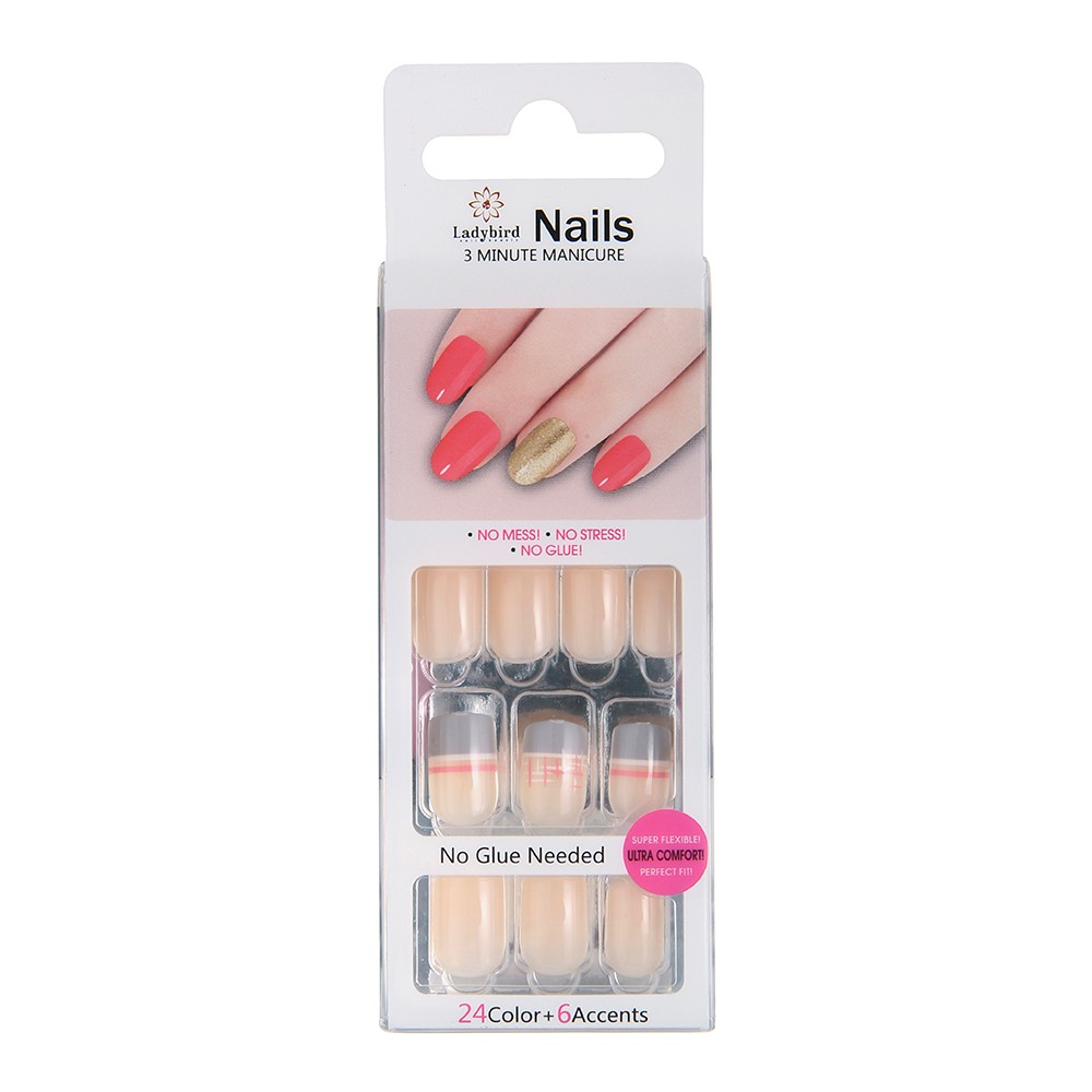 Uitstekende kwaliteit Franse ABS Almond Nail Tips False Salon Nail Tips