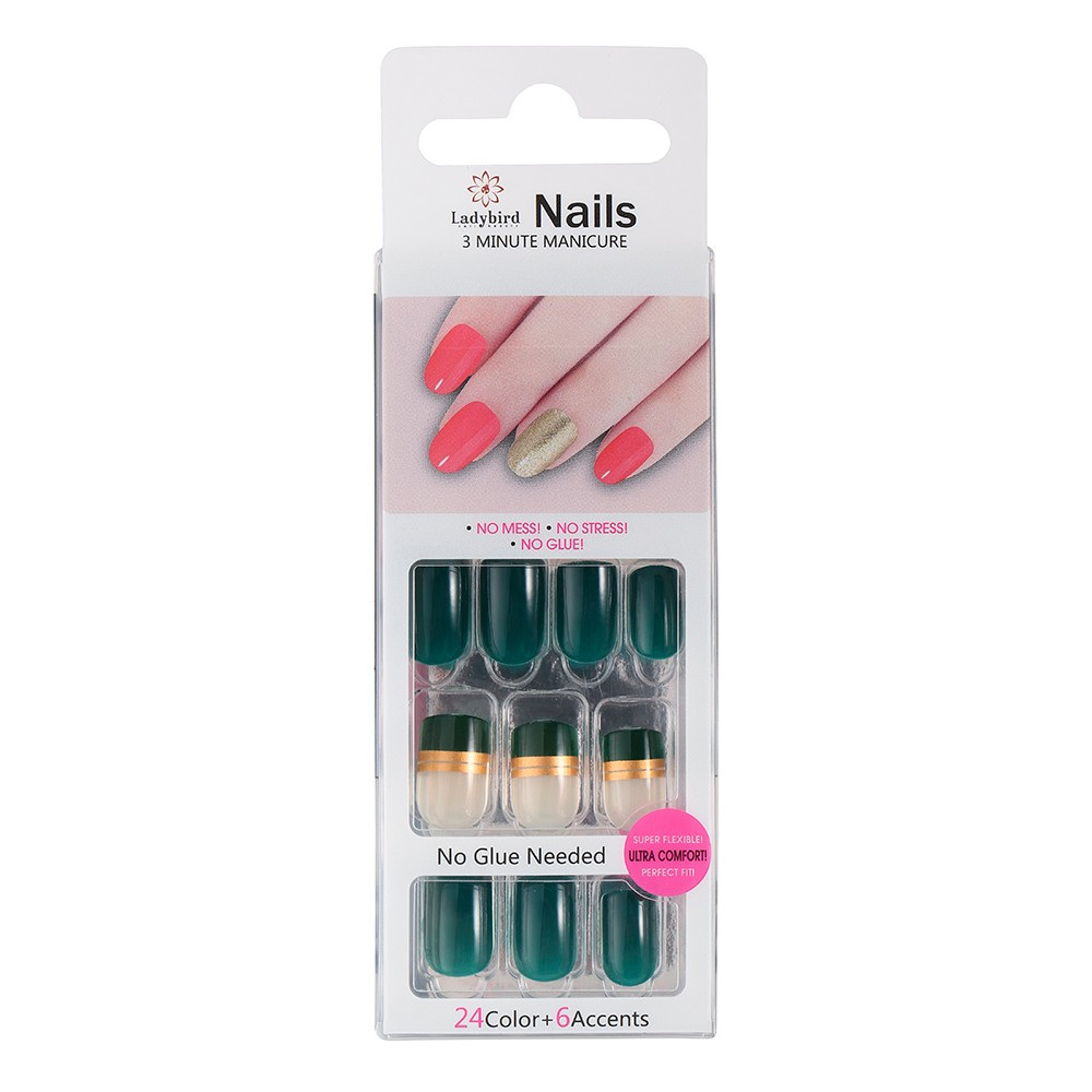 Runde Salon Acryl French Nails S903