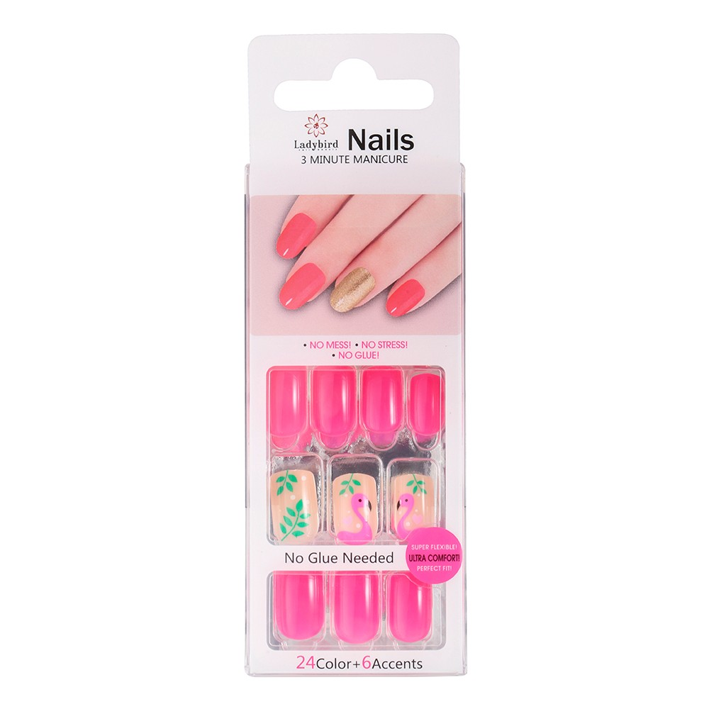 Everlasting French Glue-On Nails Weiße French Nails S913