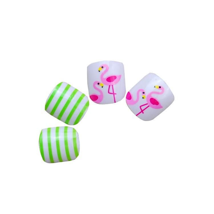Fabriek op maat waterdicht Rainbow valse nagels tips voor kind