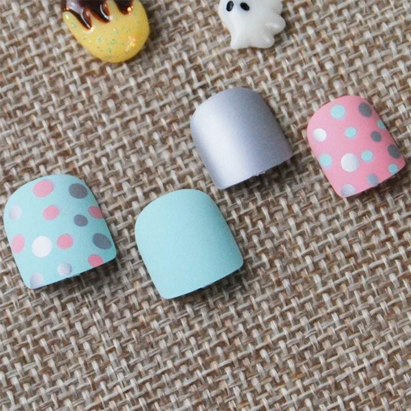 Hot verkoop van kunstnagels matte stijl nagel tips voor kinderen