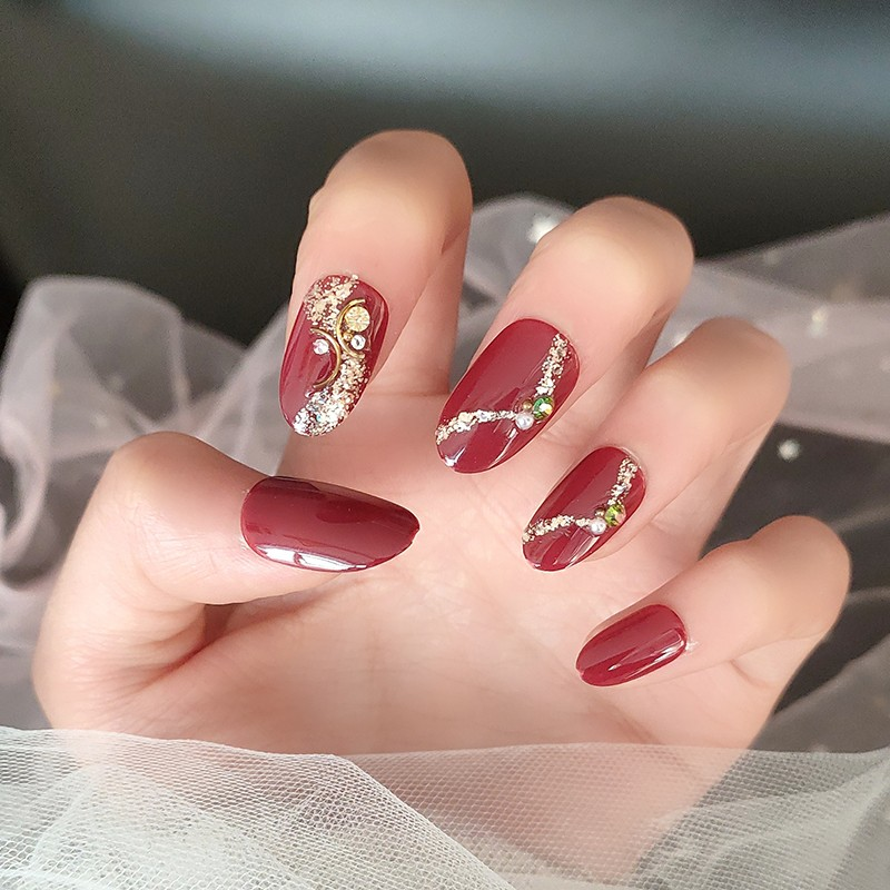 HEB-010 Ladybird Beauty Red Glitter with UV Coating Almond Artificial Fingernails Manufacturers, HEB-010 Ladybird Beauty Red Glitter with UV Coating Almond Artificial Fingernails Factory, Supply HEB-010 Ladybird Beauty Red Glitter with UV Coating Almond Artificial Fingernails