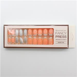 HEB-07 Fancy pers op nagels perzikroze manicureset met papieren doosjes