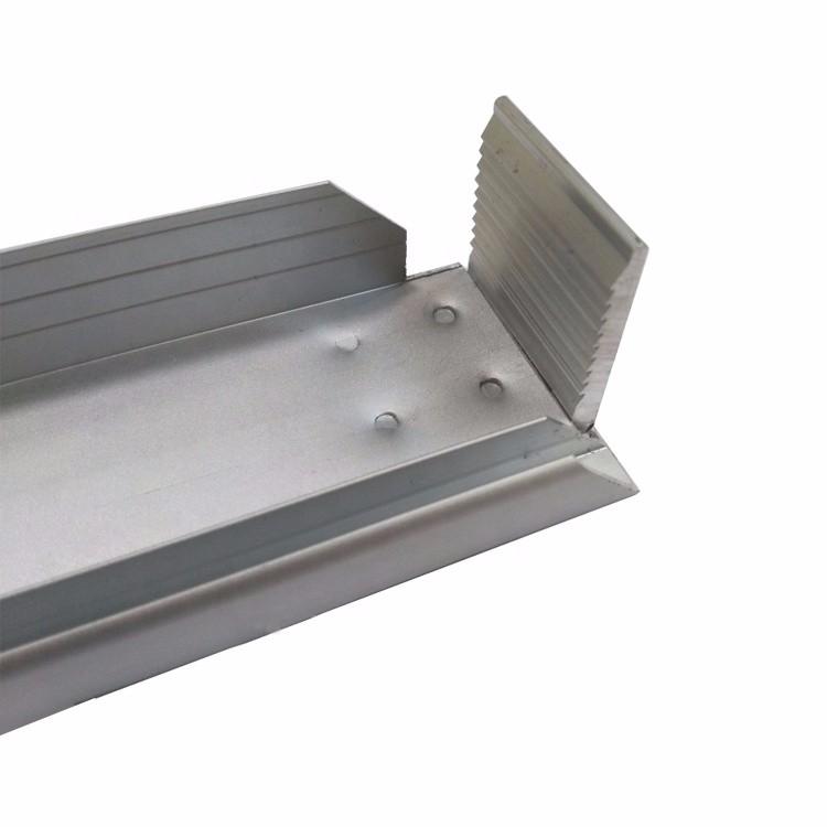 Marco de panel solar de aluminio anodizado