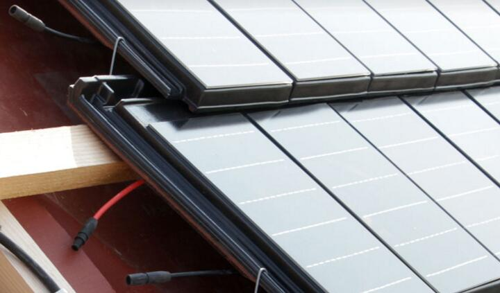 Solar glass of PV panel install on roof in Germany