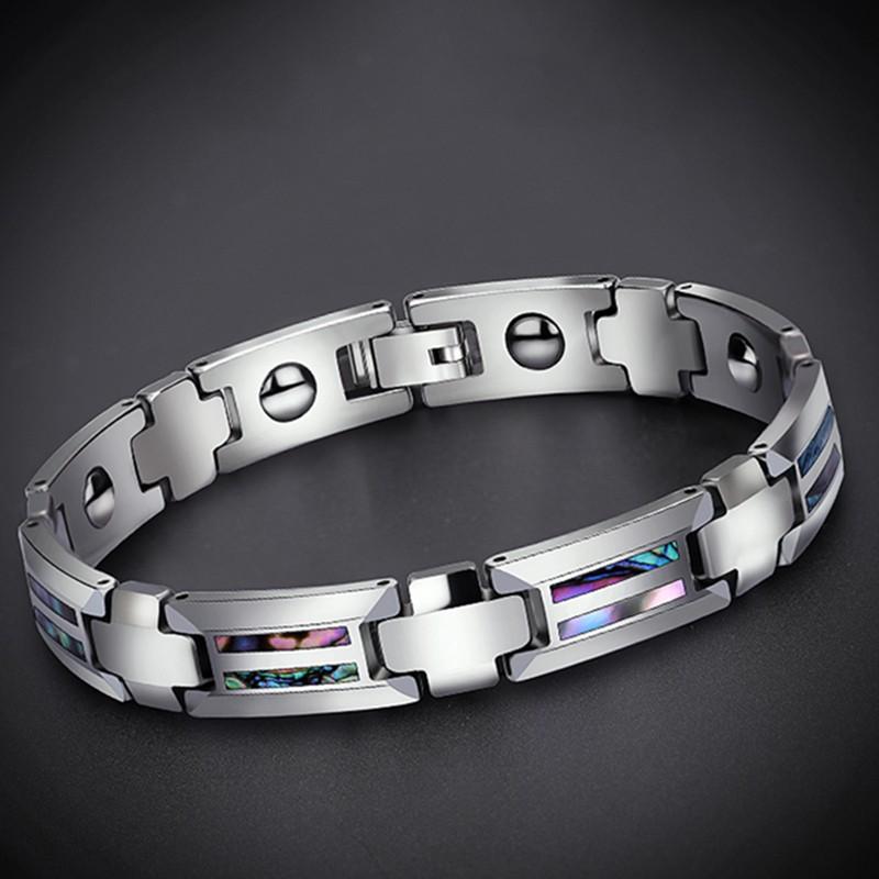 titanium steel germanium grain bracelet