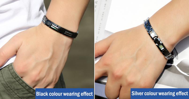 germanium grain titanium bracelet