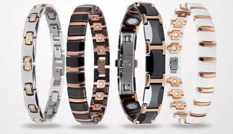 titanium germanium stone bracelet