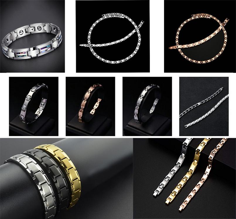 titanium steel germanium stone bracelet