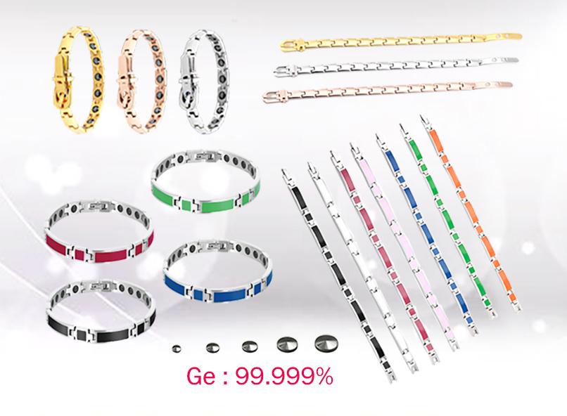 Purchase Energy 316L Stainless Steel Germanium Bracelet