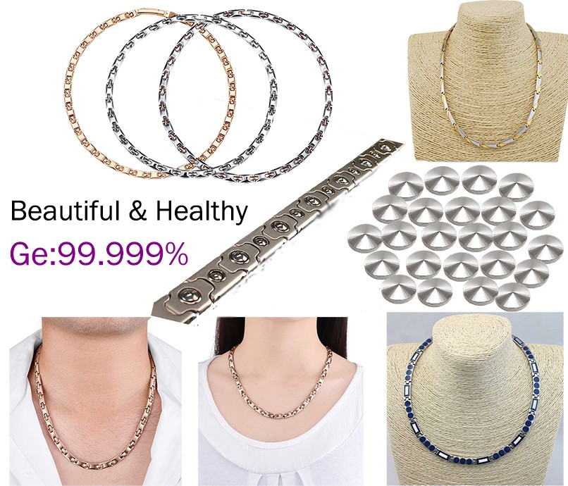 Bumili tatak Germanyum Titanium Steel Necklaces