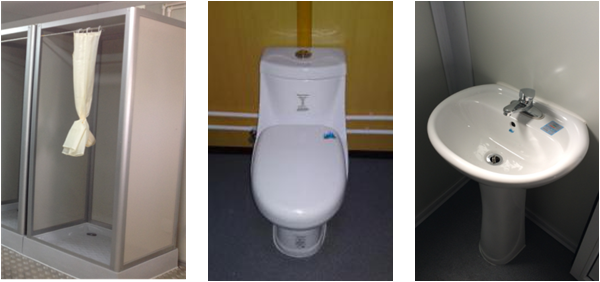 Cheap Flatpack Container Toilet