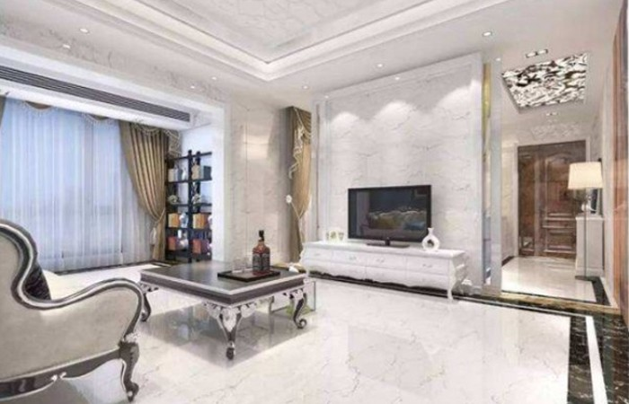 Enjoy the charm of white marble!