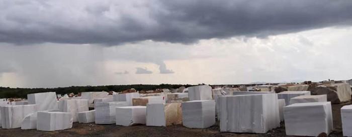 Losa de mármol blanco africano