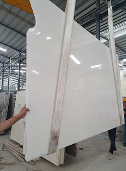 Pure White slab