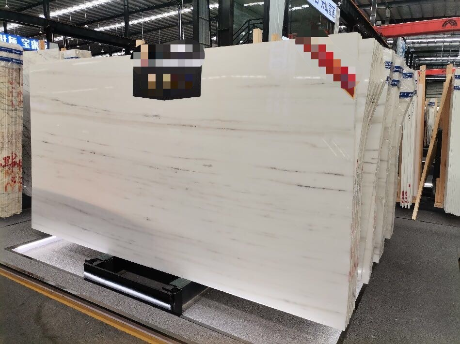 Straight grain white marble (Wood grain white marble)