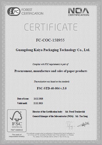 FSC Certificates