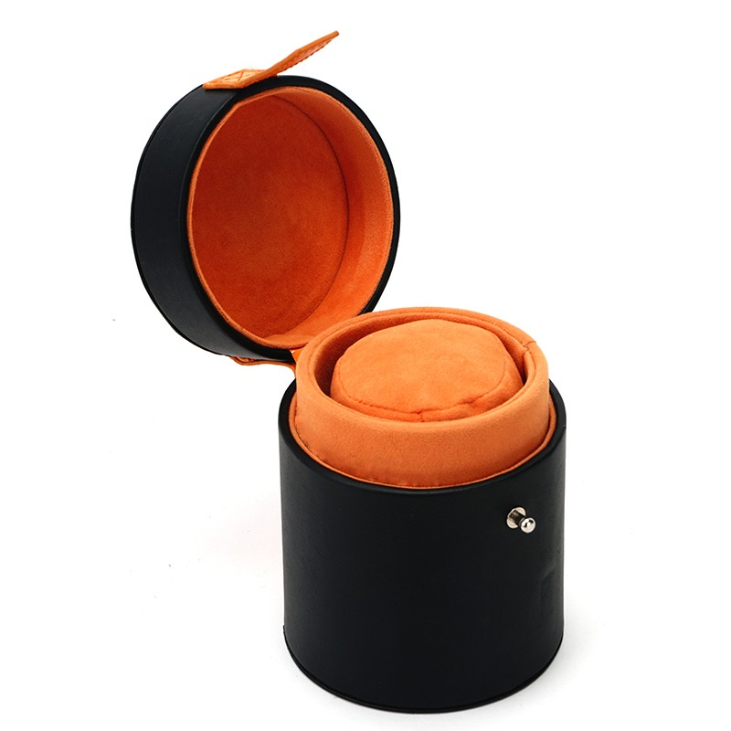 Tall Round Gift Box Leather Watch Box PU Packaging