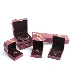 Purple Jewelry Gift Boxes Design For European Cooperative Customer