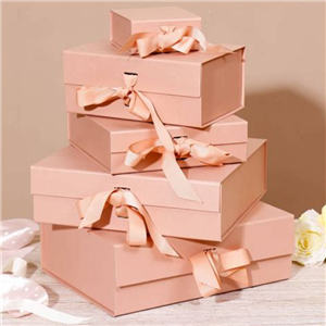 Magnet Closure Bow Tie Collapsible Bridesmaid Gift Box Design For Us Customer