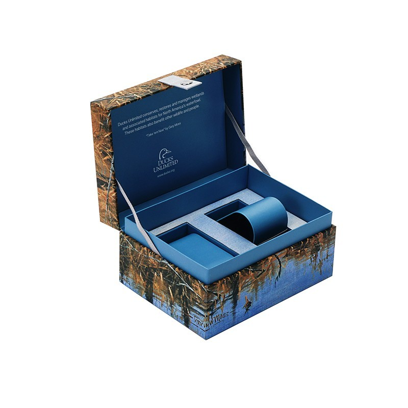 Custom Premium Mens Watch Box Blue Watch Box