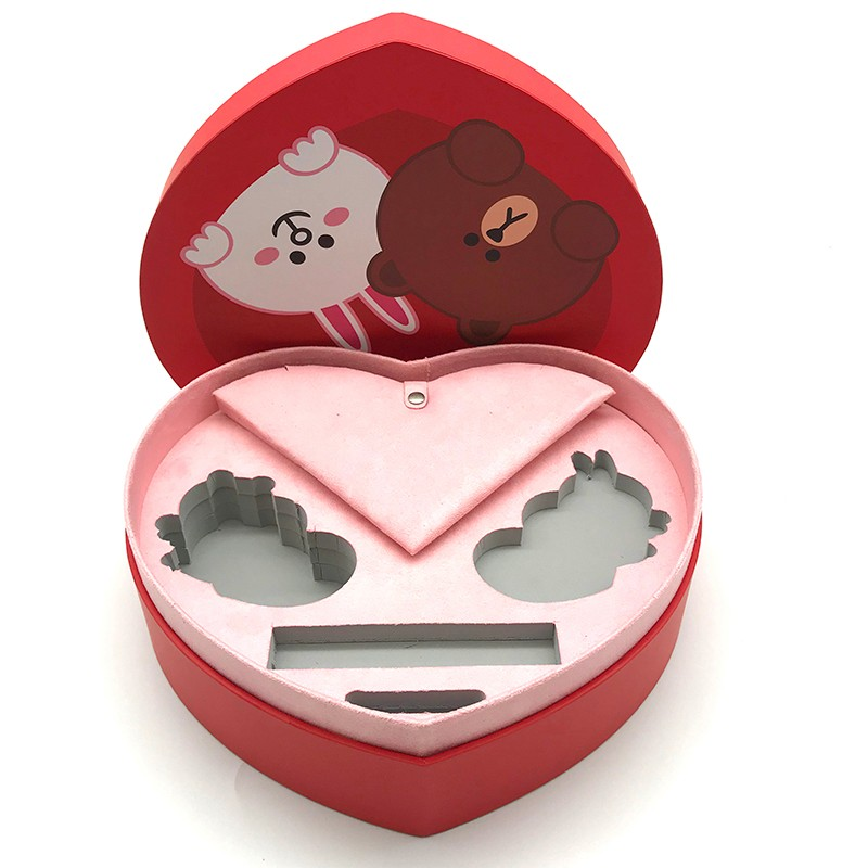 Heart shape jewelry box for lady and baby gift packaging