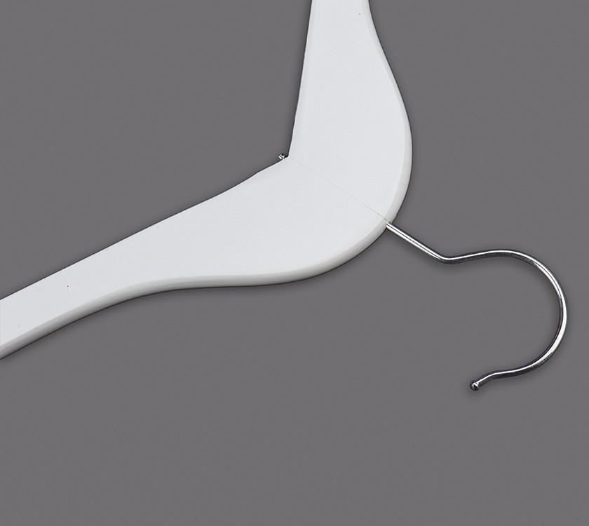 White Wooden Top Coat Hanger For Garment Manufacturers, White Wooden Top Coat Hanger For Garment Factory, Supply White Wooden Top Coat Hanger For Garment