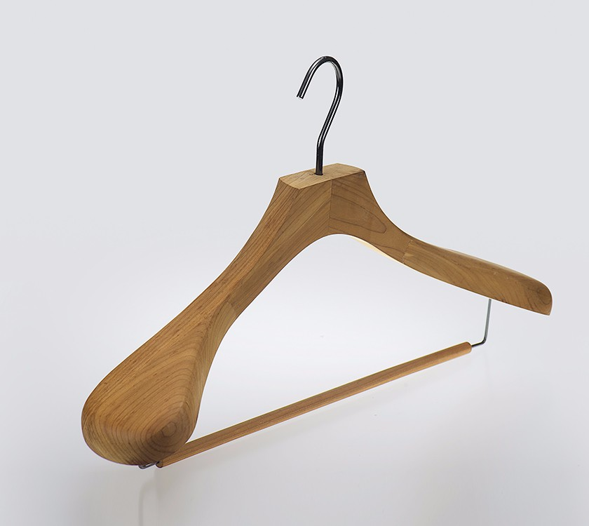 Wood Suit Hanger Stand For Garment Display