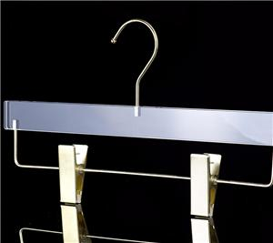 Transparent Acrylic Pant Hanger With Clips