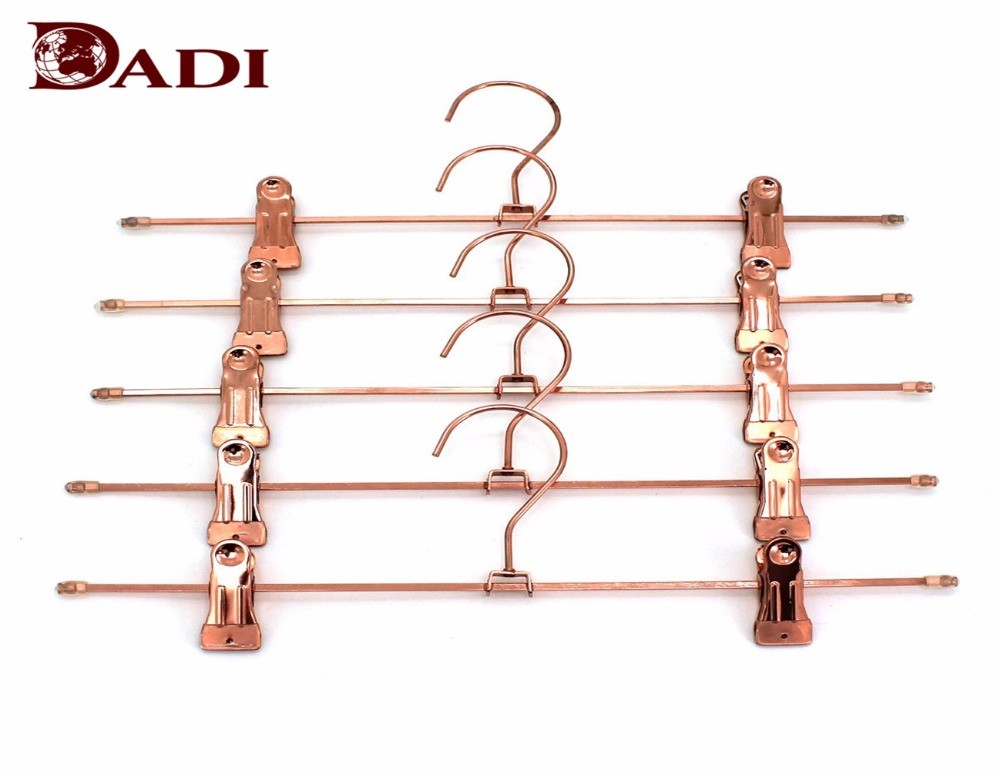 Luxury Rose Gold Metal Pant Hanger With Clips Manufacturers, Luxury Rose Gold Metal Pant Hanger With Clips Factory, Supply Luxury Rose Gold Metal Pant Hanger With Clips