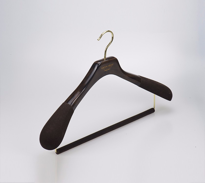 Wood suit Hanger With flocking Non Slip Shoulder