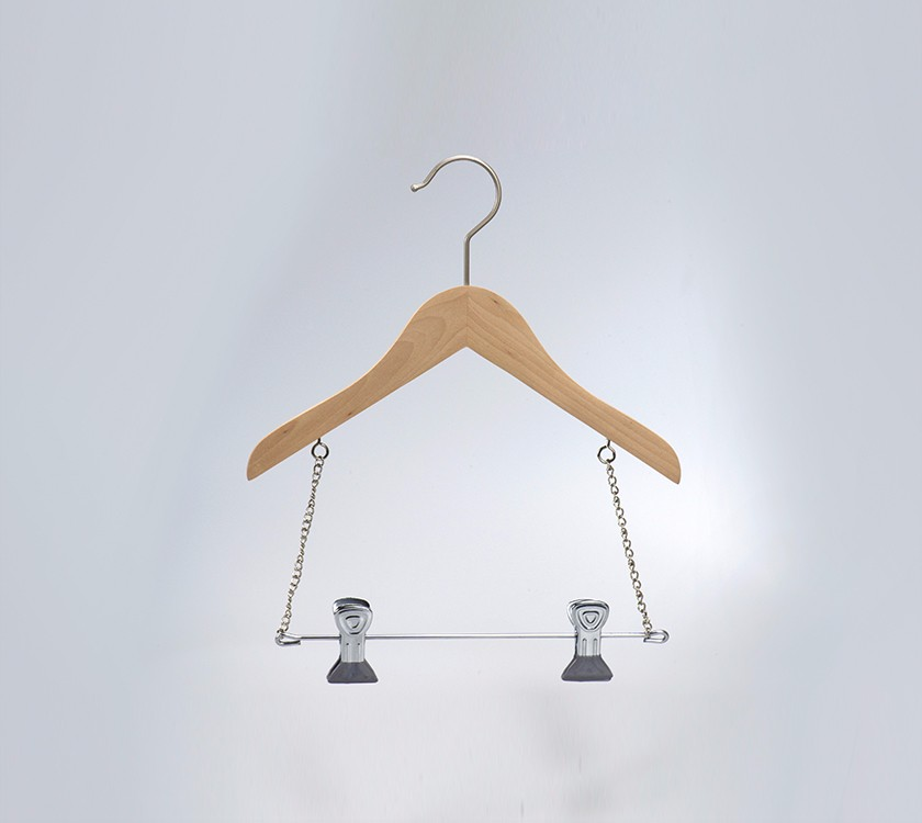 Wood Baby Clothes Mobile Hanger For Shirt