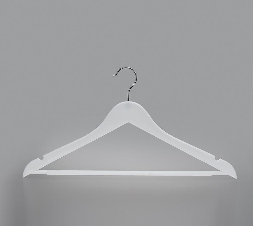 black plastic suit hanger