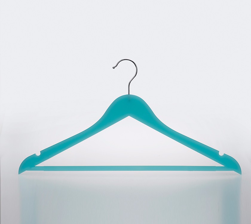 Plastic Top Shirt Hanger With Metal Hook