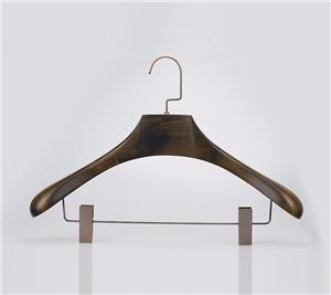 Wooden Star Hotel Suit Hanger With Clips