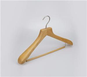 Luxury Exposure Gỗ Coat Suit Hanger Với Khóa Bar
