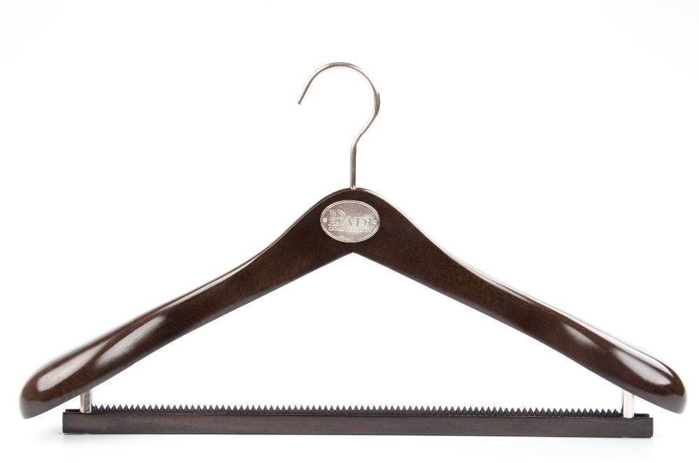 Black Wide Shoulder Luxury Wooden Suit Hanger Manufacturers, Black Wide Shoulder Luxury Wooden Suit Hanger Factory, Supply Black Wide Shoulder Luxury Wooden Suit Hanger