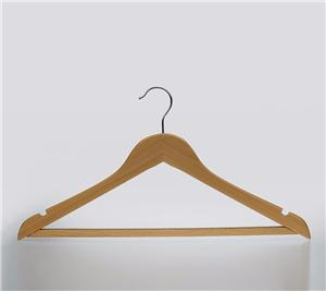 Non Slip Wooden Display Hanger For Clothing
