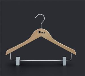 Green Eco Friendly Kids Coat Hangers With Clips