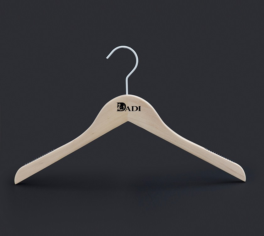 Wood Kids Coat Clothes Hanger For Children