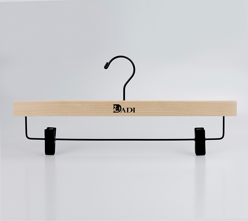 Wooden Pants Garment Rack Hanger With Logo