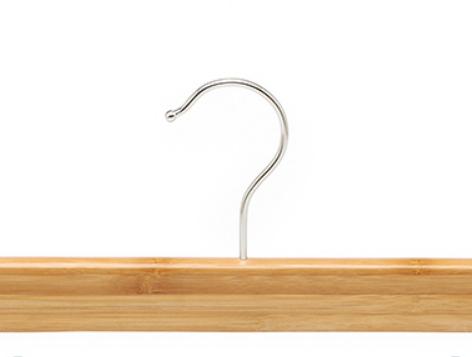 cabide de calça de bambu